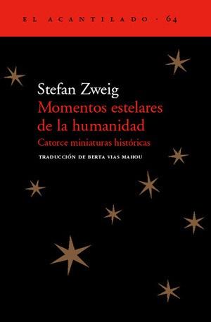 Portada libro: Momentos estelares de la humanidad